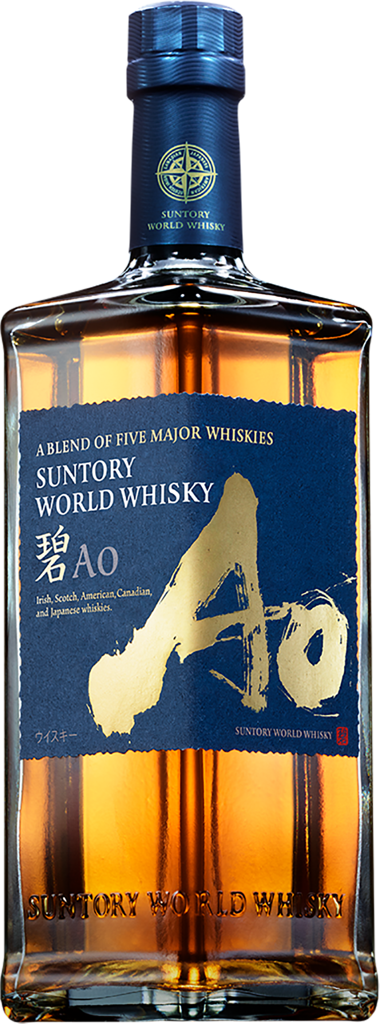 A BLEND OF FIVE MAJOR WHISKIES SUNTORY WORLD WHISKY Ao чвз
